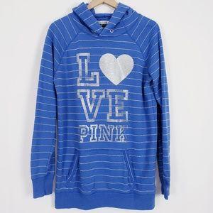 Victoria's Secret PINK extra long glitter hoodie L
